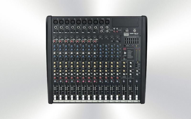 GIG-164CFX -Mesa de mezclas DAP 16 canales 8 micros efectos -0025-0010-