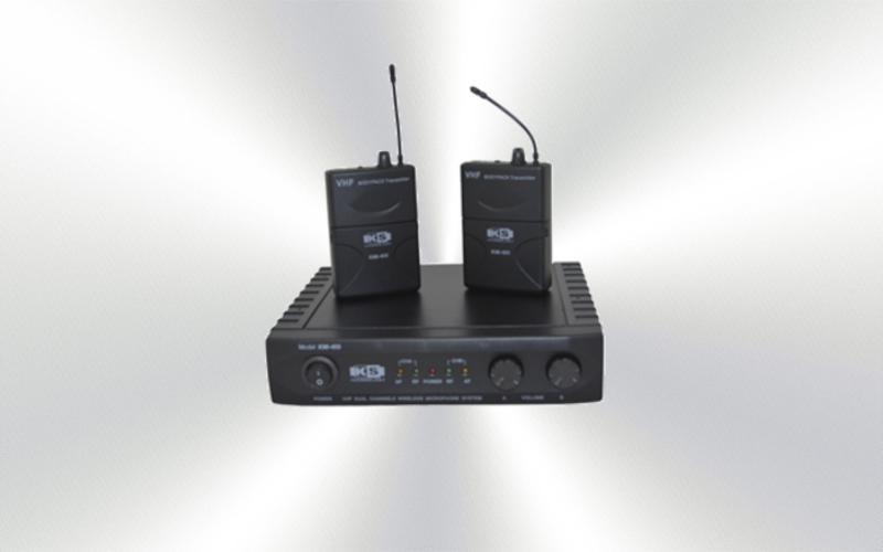 KMI 400 BELT -Micrófono de diadema y solapa inalámbrivo doble 4 frecuencias VHF KS -0045-0020-