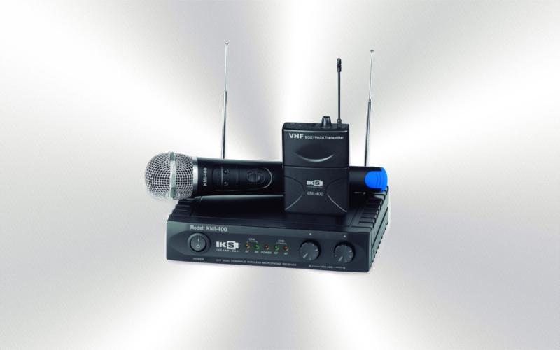 KMI 400 SET -Micrófono de mano/diadema/solapa doble  4 frecuencias VHF KS -0045-0020-