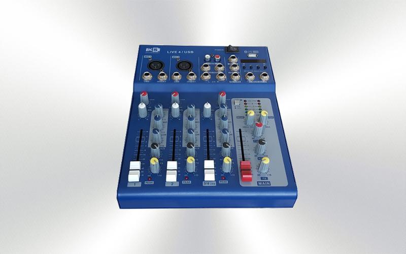 4 EVIL USB -MESA DE MEZCLAS 3 CANALES 2 micro/linea 1 estéreo USB frontal -0043-0020-