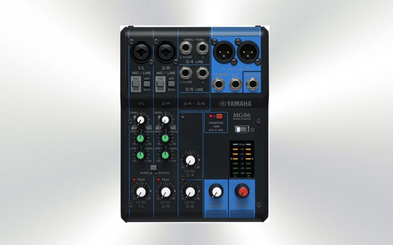 MG06 - Mesa audio 6 canales Yamaha de 6 canales (2 mono + 2 ST/2 mic)  -0949-0000-
