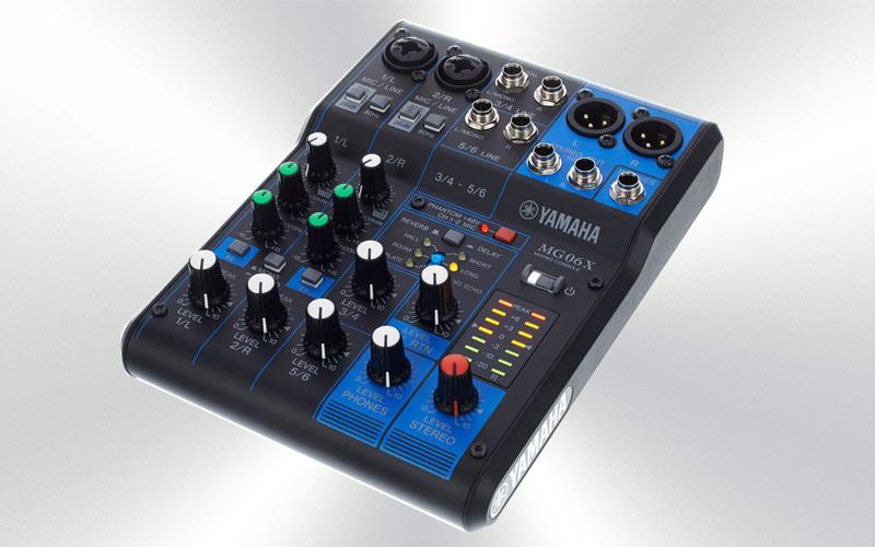 MG06X - Mesa audio 6 canales (P) Yamaha de 6 canales (2 mono + 2 ST/2 mic) -1000--0000-