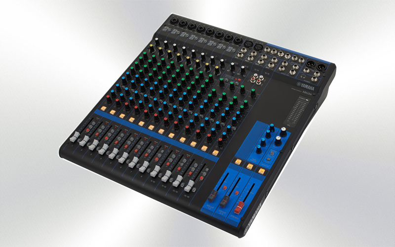 MG16 - Mesa de mezclas 16 canales (P) Yamaha (8 mono + 4 ST/10 mic), Nue.pre. D-PRE, 4 -0005-0000-