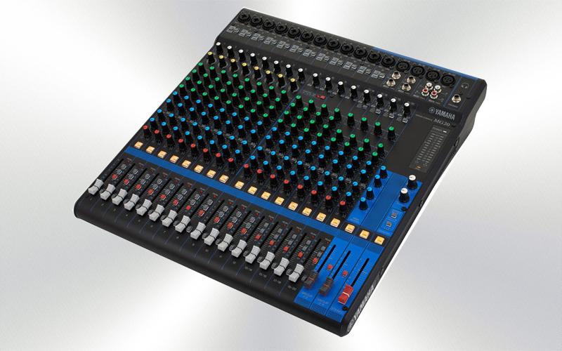 MG20 -Mesa de mezclas 20 canales Yamaha (12 mono + 4 St./16 mic),  D-PRE -0005-0000-