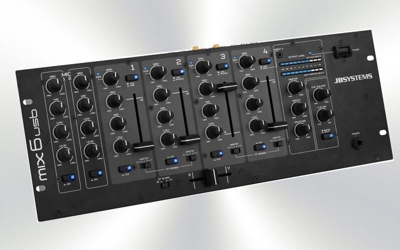 MIX 6 USB -Mezclador de 4 canales + 2 micros Talkover Jbsystems -36/10/20@300418-