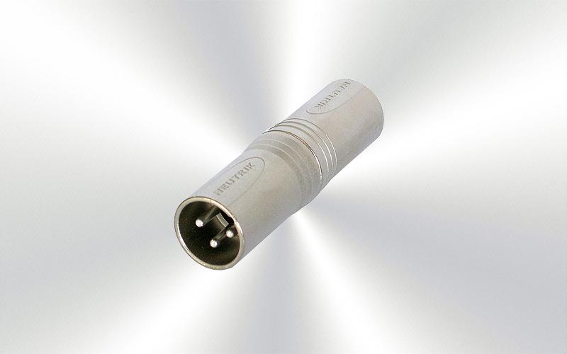 NA3MM -EMPALME NEUTRIK XLR3-M a XLR3-M -0030-0012- -2000-0005--