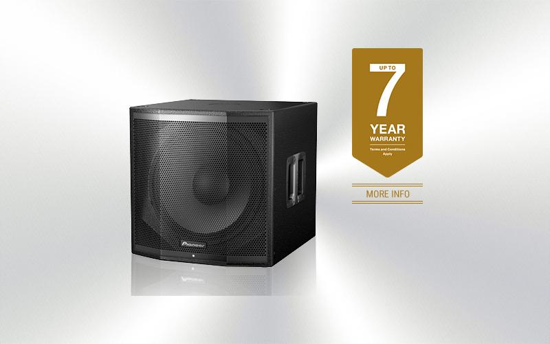 XPRS-115S -Caja Pioneer Pro Audio subgrave amplificada 15'' 1200w programa -3657-0016