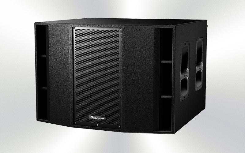 XPRS-215S -CAJA SUBGRAVE AMPLIFICADA Pioneer Pro Audio 2x15'' 1200W de programa -3790-0016-
