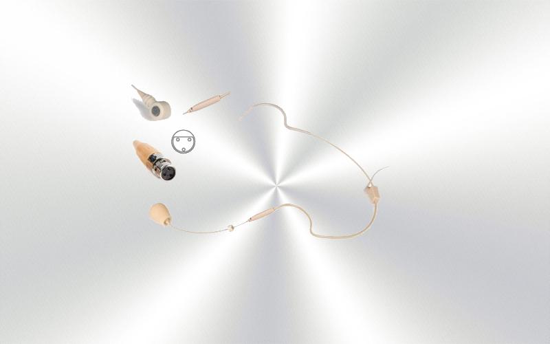 FCM-930A-MC3 -Micrófono diadema para sistema inalámbrico con cápsula de condensador electret unidireccional Fonestar mini XLR3 -0035-0015-