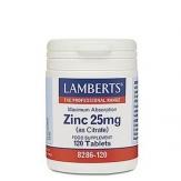 Zinc 25mg 120 tabletas
