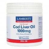 Cod Liver Oil 1000mg 180 cápsulas