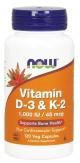 Vitamin D-3 & K-2 120 Veg Capsules