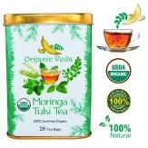 Infusión de moringa con hojas de tulsi 28 filtros Bio