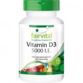 Vitamin D3 5000 i.e. 180 cápsulas