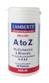 A-Z Multivitaminas y Minerales 60 tabletas