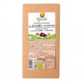 Chocolate Negro Jengibre y Naranja 100gr Bio