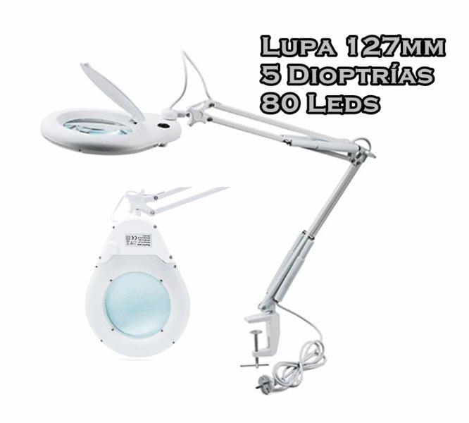 LUPA LAMPARA FLEXO 80 LEDS