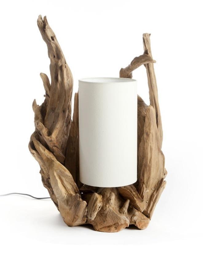 LAMPARA MESA BONAK MADERA 45X70 CM