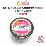 PACK 10 RESISTENCIAS MTL FUSED CLAPTON 0.8 - COILAND