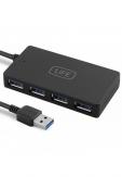 1LIFE HUB 4 PUERTOS USB3.0 NEGRO