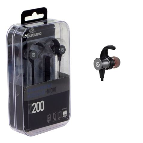 AURICULAR + MICROFONO Z200 NEGRO COOLSOUND