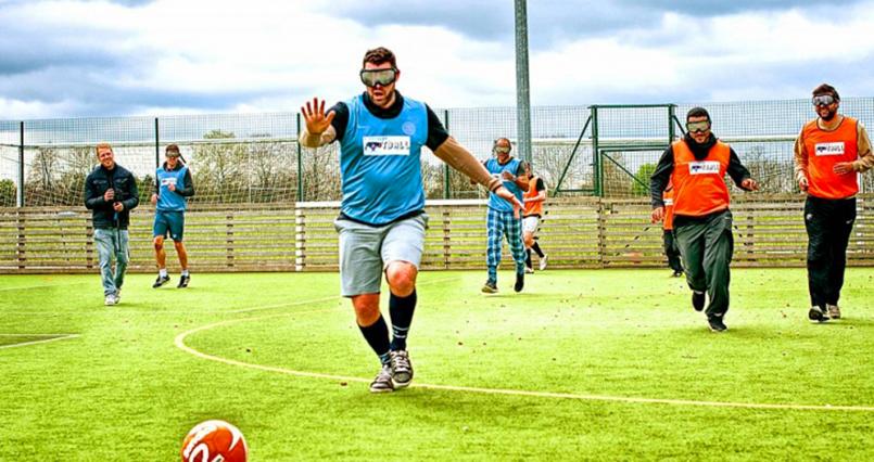 Goggle Fußball für meinen JGA in London(Maximise) | Junggesellenabschied