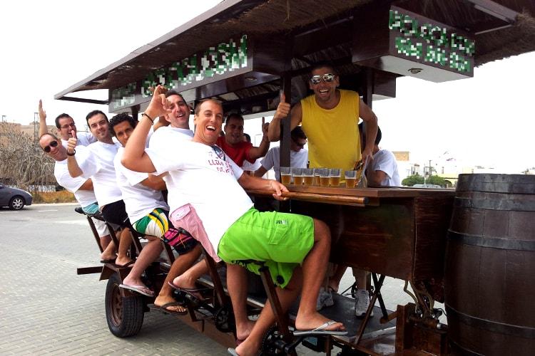 beer bike, bières, bière, evg, enterrement de vie de garçon
