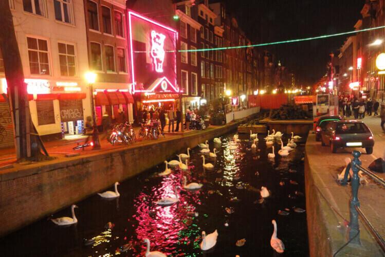 Rotlichtviertel Crazy-Junggesellinnenabschied in Amsterdam