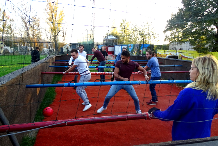 Human Table Football for my Hamburg Hen Party | Maximise Hen Weekends