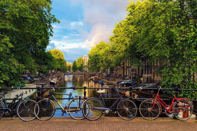 Fahrradverleih für den Junggesellinnenabschied in Amsterdam