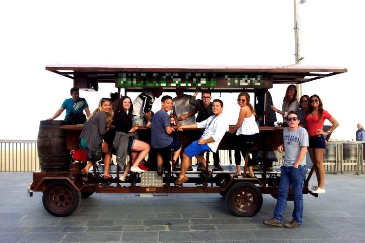 Beer Bike pour mon EVG à Barcelone