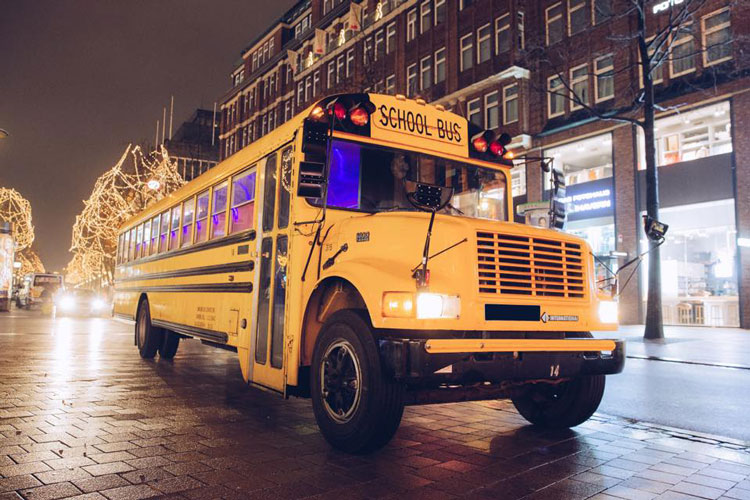 Airport Transfer American Schoolbus for my Munich Hen Party   Maximise Hen Weekends
