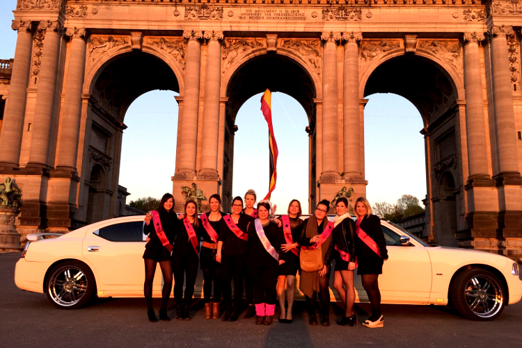 Dodge limousine Hen do in Brussels Maximise