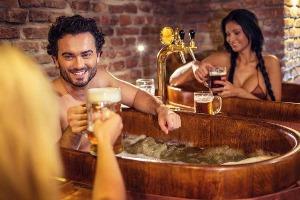 Enterrement de vie de garçon avec Crazy EVG-Prague-Beer spa