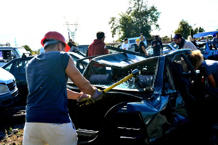 Car smash à Budapest pour votre EVG