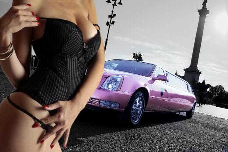 Enterrement de vie de garçon à Budapest avec Crazy EVG Cadillac Limo strip