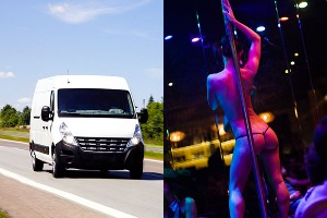 Enterrement de Vie de Garçon à Amsterdam Crazy-evG Transfert aéroport minibus et strip