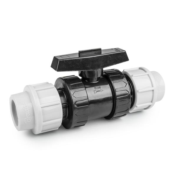 Bradas PE svěrný kohout 40mm/40mm, PN16