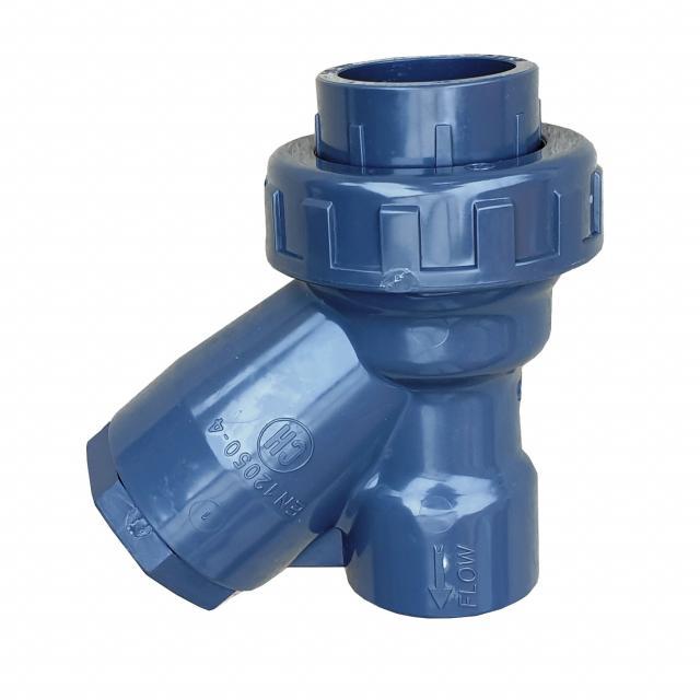 PVC-U zpětný ventil Y s koulí, na lepení, EPDM, PN10 d50