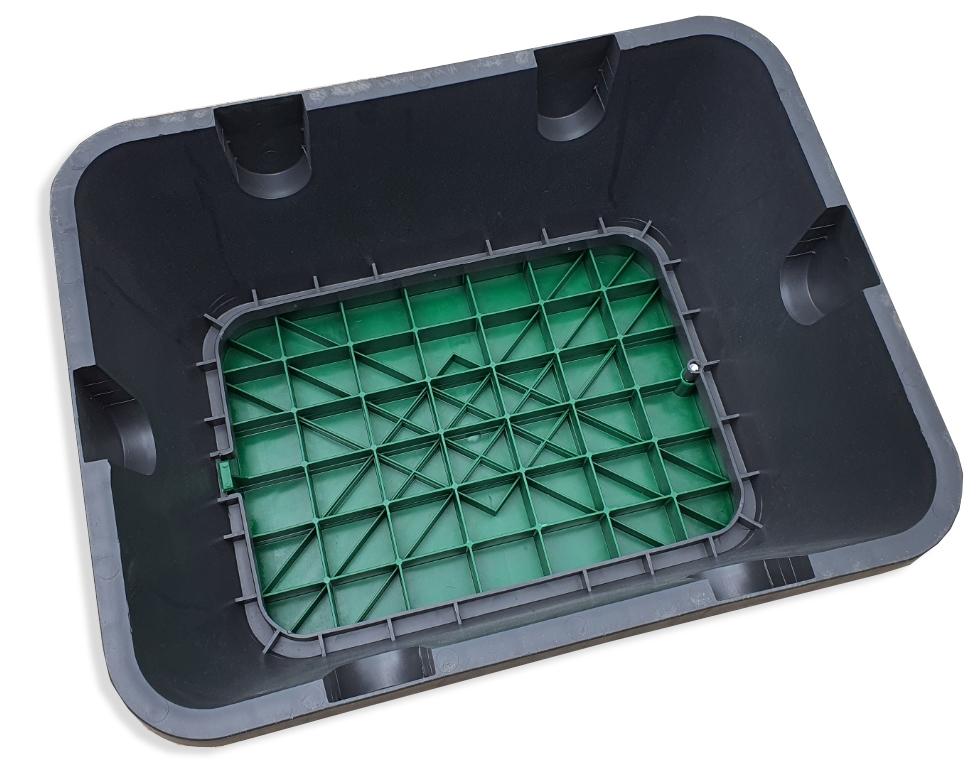 Hunter JUMBO - ventilová šachtice PC, zelené víko 50x36cm, základna 64x50cm