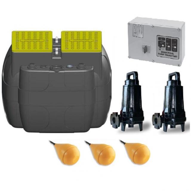 Dreno DRENO BOX 600 A + 2x GRIX 32-2/110 T + E-BOX PLUS