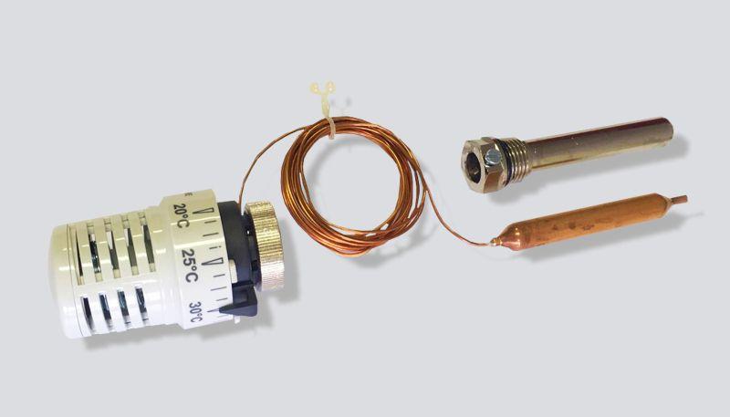 """TM9561KIT01 TIEMME termostatická hlavice s externí sondou G1/2"""", 20-50°C"""