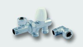 """TM3382 K TIEMME G1/2"""" manuální ventil DUOFLOW pro boční napojení radiátoru"""