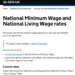 HMRC National Minimum Wage 2016