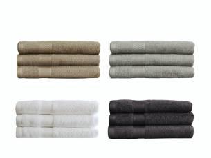 Een set van 3 luxe Seashell hotelkwaliteithanddoeken (70x140 cm)!