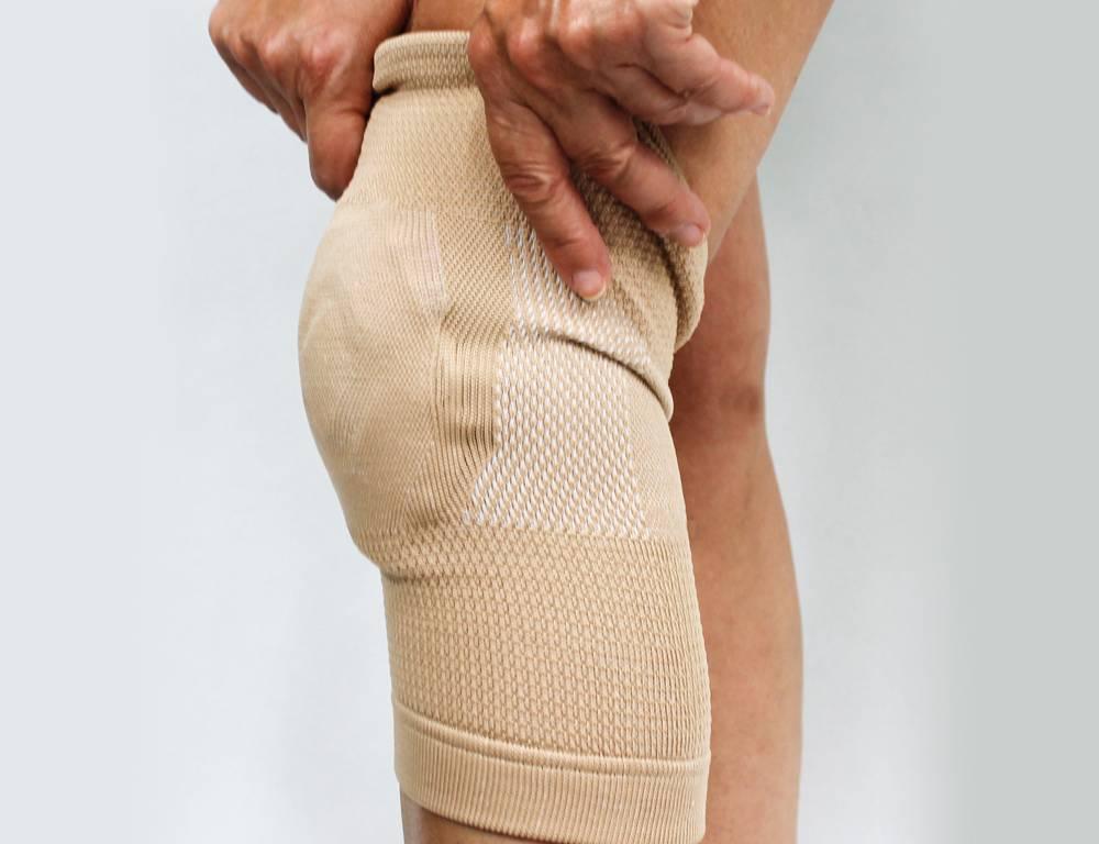 Bamboe kniebandage met gelkussen - Biedt comfort en stevigheid