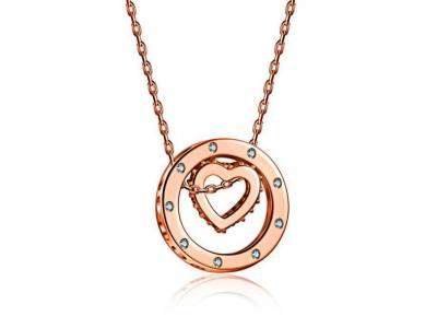 Prachtige rosé gouden ketting ´Adelaide´ van Van Amstel Diamond!