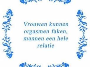 Tekst tegel Vrouwen kunnen .. / Delfts Blauw