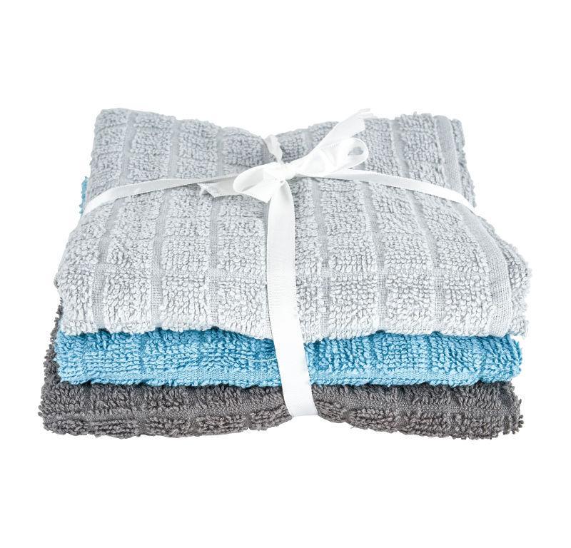 Keukendoek - grijs/blauw - set van 3