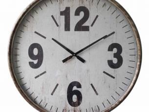 Wandklok metaal bruin grijs 67 cm